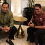 AHY Menemui Sandiaga Untuk Membicarakan Peluang Koalisi di Pilpres 2019
