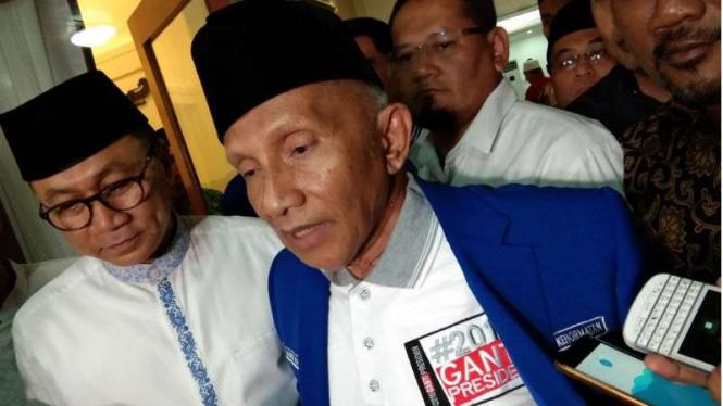 Amien Rais Bukan Rival Yang Sulit Untuk Jokowi
