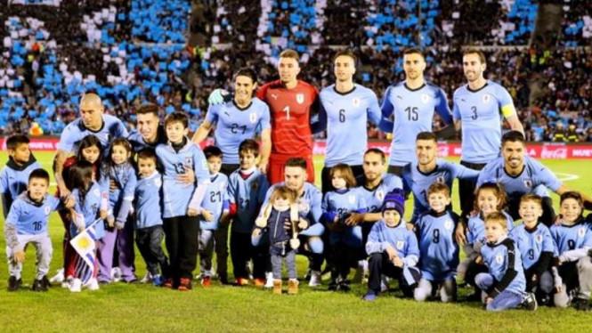 Skuat Uruguay Sempatkan Bersantai Jelang Piala Dunia 2018