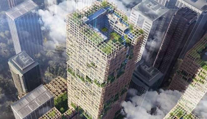 Gedung Tinggi Terbuat Dari Kayu Bakal Dibangun Di Negara Sakura