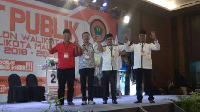 Dua Calon Walikota Malang Tak Menghadiri Debat Karena Diperiksa KPK