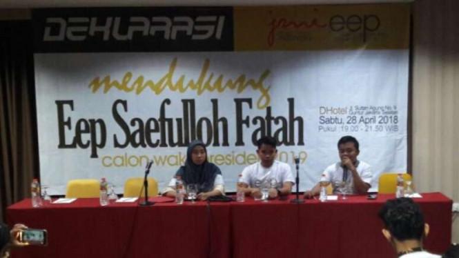 Eep Saefulloh Fatah Mendeklarasikan Diri Menjadi Cawapres Pilpres 2019
