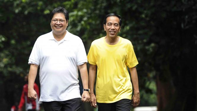 Hubungan Antara Presiden Jokowi Dengan Airlangga Kian Erat
