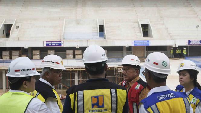Jusuf Kalla serta Sandi Meninjau Tempat Acara Pagelaran Asian Games