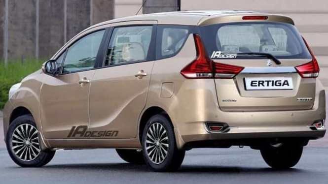 Prediksi Tampilan Belakang Mobil Suzuki Ertiga Terbaru