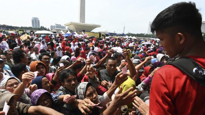 Ketua Panitia Pada Pembagian Sembako di Monas Menampik Terkait Politik