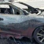 Mobil Hangus Terbakar Karena Sebuah Ponsel