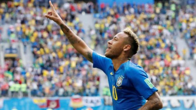 Neymar Sukses Lampaui Perolehan Gol Romario di Brasil