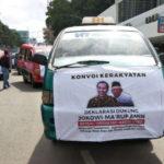 Angkot di Medan Dukung Jokowi Dua Periode
