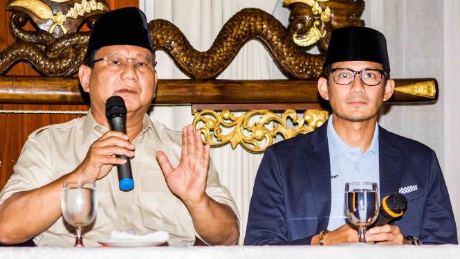 Prabowo serta Sandiaga Minta Amanah dari Rakyat