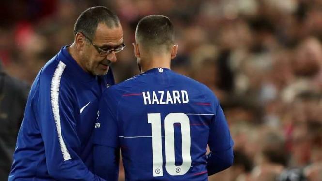 Hazard Ungkapkan Alasannya Sebut Sarri Pelatih Terbaik