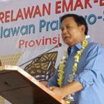 Prabowo Sapa Relawan Emak-emak Di Bali