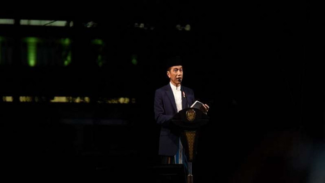 Presiden Jokowi Berikan Nasehat Pada Peringatan Hari Santri Nasional