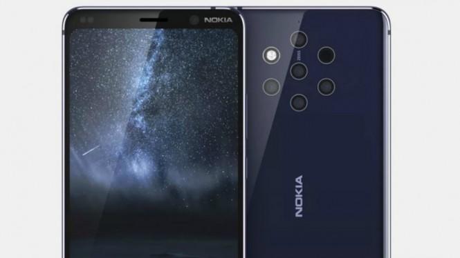 Bocoran Ponsel Baru Nokia Dengan 5 Lensa