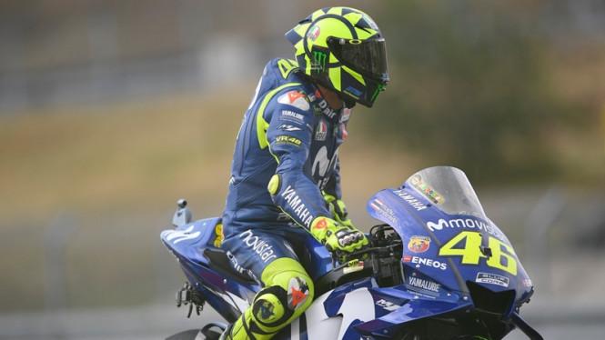 Rossi Sebut Perkembangan Mesin Yamaha Kalah Dengan Yang Lain