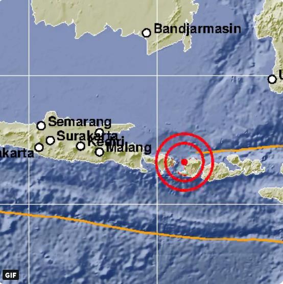 Gempa Berkekuatan 5.7 SR Meguncang Mataram NTB