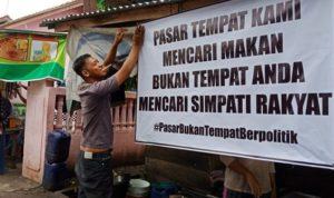 Pedagang Tolak Adanya Politisasi Di Dalam Pasar