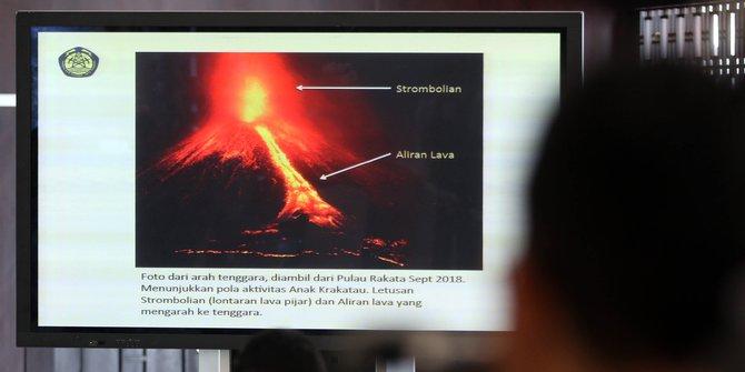 Gunung Anak Krakatau Tercatat Alami Erupsi 46 Kali