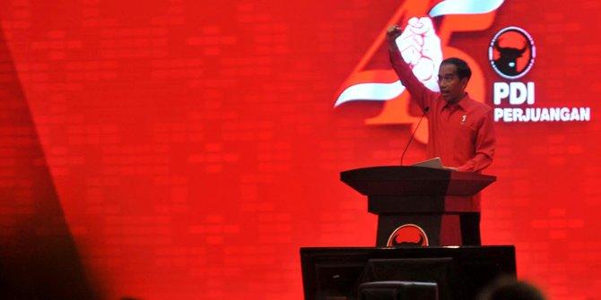 Jokowi Hentikan Pidato Di HUT PDIP Saat Adzan Dzuhur