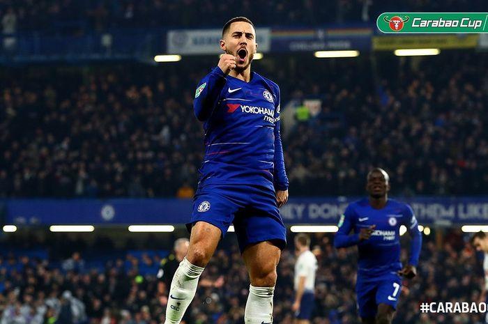 Courtois Mendukung Hazard Geser ke Madrid