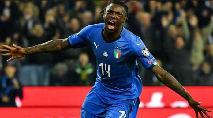 Moise Kean Berhasil Cetak Gol Debut Bersama Timnas Italia